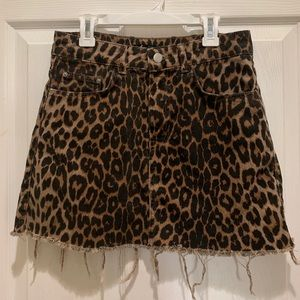 Zara leopard print mini skirt!
